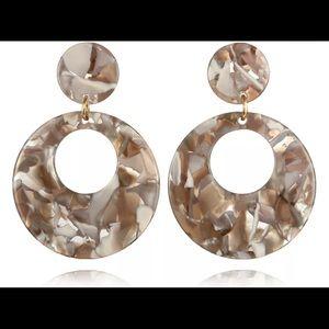 Just in! Acrylic hoop earrings
